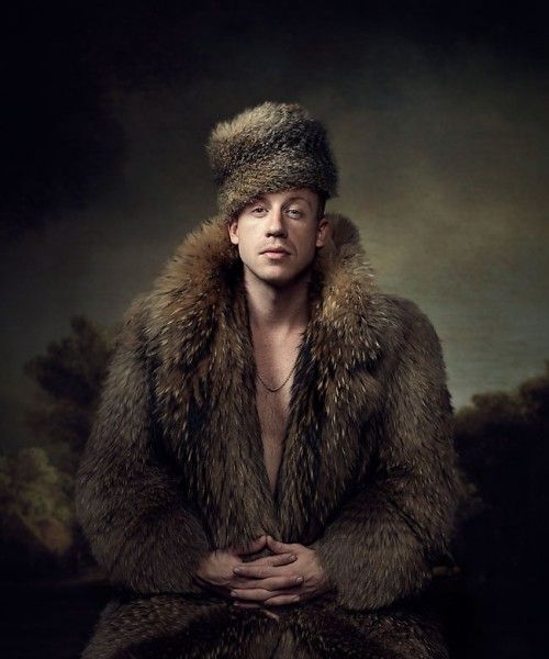 Portrait of Macklemore by photographer John Keatley.