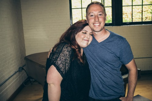 Mary Lambert with photographer John Keatley.